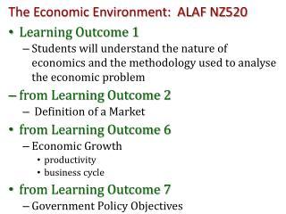 The Economic Environment:  ALAF NZ520