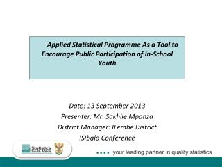 Applied Statistical Programme As a Tool to Encourage Public Participation of In-School Youth