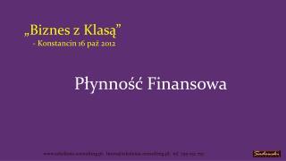 """""""Biznes z Klasą"""" - Konstancin 16 paź 2012"""