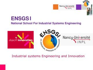 ENSGS I National School For Industrial Systems Engineering