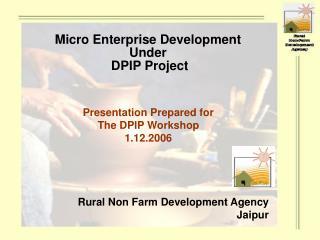 Rural Non Farm Development Agency Jaipur