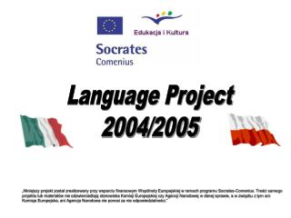 Language Project 2004/2005