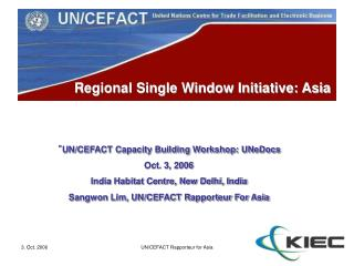 Regional Single Window Initiative: Asia