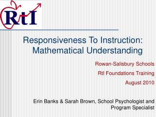 Responsiveness To Instruction:  Mathematical Understanding