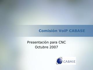 Comisión VoiP CABASE