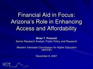 Financial Aid in Focus: Arizona's Role in Enhancing Access and Affordability