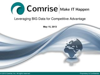 Leveraging BIG Data for Competitive Advantage May 15, 2013