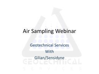 Air Sampling Webinar