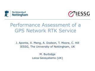 Performance Assessment of a GPS Network RTK Service