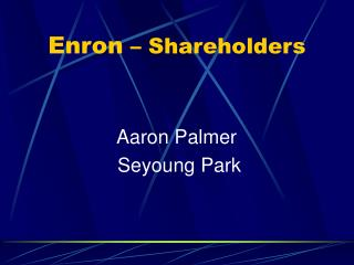 Enron  � Shareholders