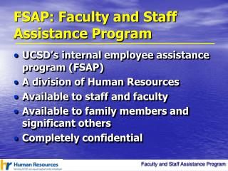 FSAP: Faculty and Staff Assistance Program