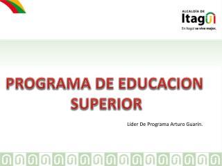 PROGRAMA DE EDUCACION  SUPERIOR
