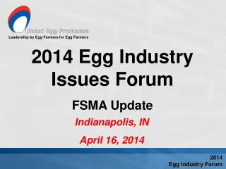 Leadership by Egg Farmers for Egg Farmers