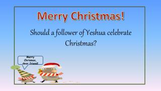 Should a follower of Yeshua celebrate Christmas?