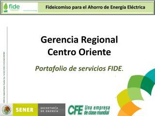 Portafolio de servicios FIDE .