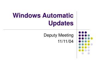 Windows Automatic Updates