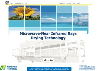 Microwave-Near Infrared Rays  Drying Technology