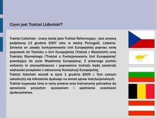 Czym jest Traktat Lizboński?