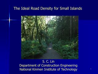 The Ideal Road Density for Small Islands