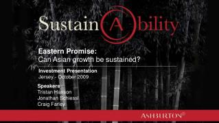 Eastern Promise: Can Asian growth be sustained?
