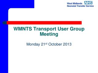WMNTS Transport User Group Meeting