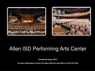 Allen ISD Performing Arts Center