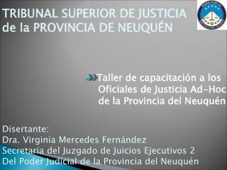 TRIBUNAL SUPERIOR DE JUSTICIA de la PROVINCIA DE NEUQUÉN