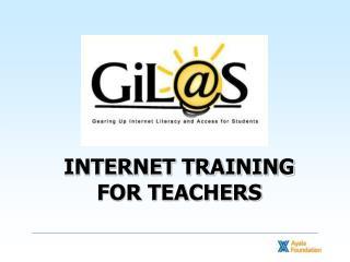 INTERNET TRAINING FOR TEACHERS