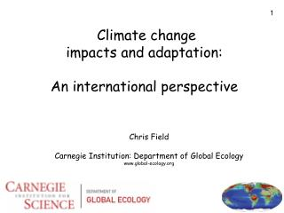 Climate change impacts and adaptation: An international perspective