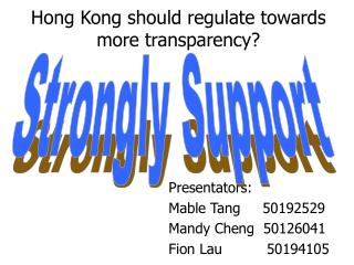 Hong Kong should regulate towards more transparency