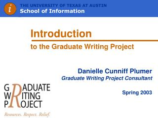 Introduction to the Graduate Writing Project