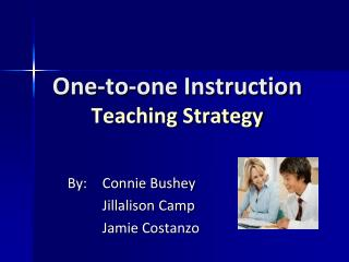 One-to-one Instruction Teaching Strategy