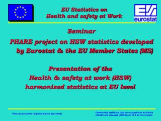 Seminar  PHARE project on HSW statistics developed by Eurostat & the EU Member States (MS)