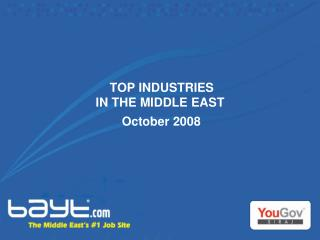 TOP INDUSTRIES  IN THE MIDDLE EAST