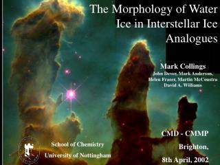 The Morphology of Water Ice in Interstellar Ice Analogues