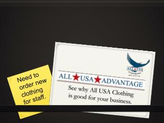 See why All USA Clothing  is good for your business.