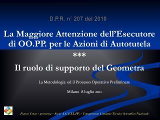 D.P.R. n� 207 del 2010