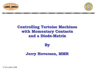 Controlling Tortoise Machines with Momentary Contacts  and a Diode-Matrix By Jerry Hoverson, MMR