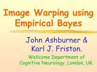 Image Warping using Empirical Bayes