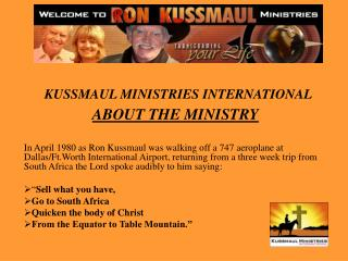 ABOUT THE MINISTRY