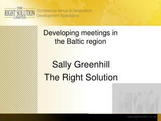 Developing meetings in  the Baltic region