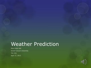Weather Prediction