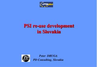 PSI re-use development in Slovakia
