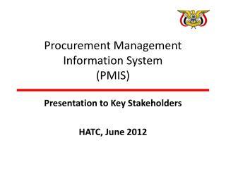 Procurement Management Information System (PMIS)