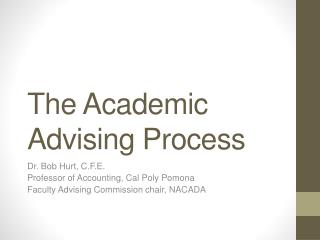 The Academic Advising Process