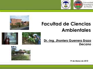 Facultad de Ciencias Ambientales
