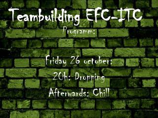 Teambuilding EFC-ITC