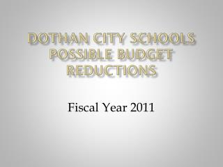 Dothan city schools possible budget reductions