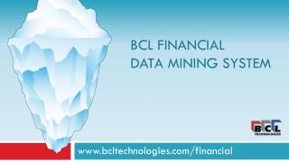 BCL Financial  Data Mining System