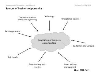 Generation of business opportunities
